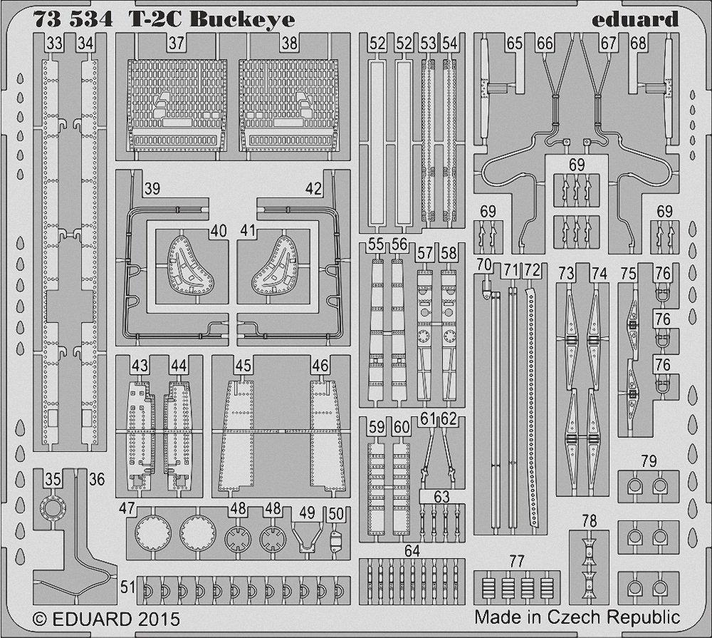 エデュアルド 1/72 T-2C バックアイ パーツセット ウルフパック用 EDU73534 B015XNY3T2