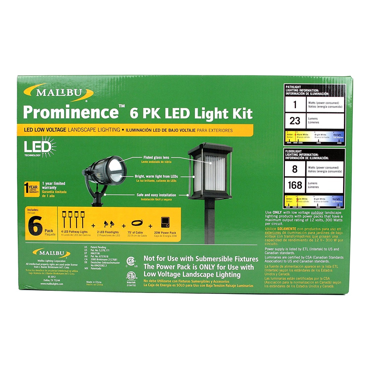 Amazon.com : Malibu Prominence 6 Pack LED Light Kit. These Landscape Lights are Best for Exterior and Outdoor Lighting. This Low Voltage Light Set is ...