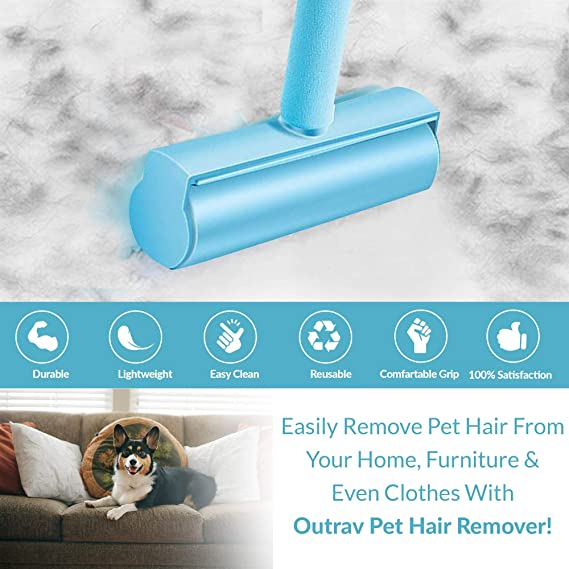 Stable Pet Hair Remover for Sofas and Beds BIDOST Premium Pet Hair Roller Reusable Lint Brush Ideal as Cat Hair Remover Removes Cat /& Dog Hair Effortlessly
