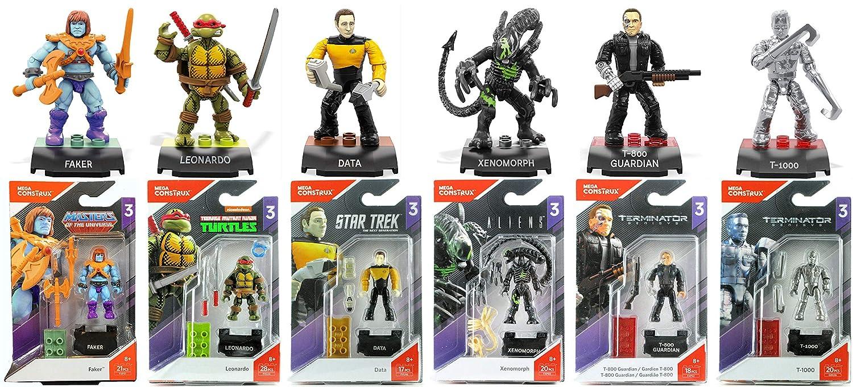 Amazon.com: Mega Construx Heroes Series 3 Bundle of 6 Mini ...
