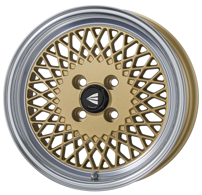 エンケイ アルミホイール ENKEI92 15 x 7.0J +38 4H 114.3 Machining Gold EK92-570-38-4H-G B06X3V45Q2