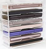 Large Premium Acrylic Pallet Organizer by Skin Radiadiance. Superior Quality 8 Tier Acrylic Palette Makeup Organizer & Perfect Vanity Organizer. Can also be Used as Desktop File Holder