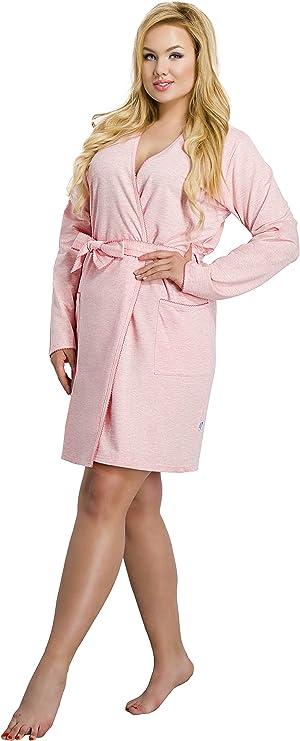 Merry Style Batas Tallas Grandes Plus Size Ropa De Cama Interior Lenceria Mujer 1045 Albaricoque Xxl Amazon Es Ropa Y Accesorios