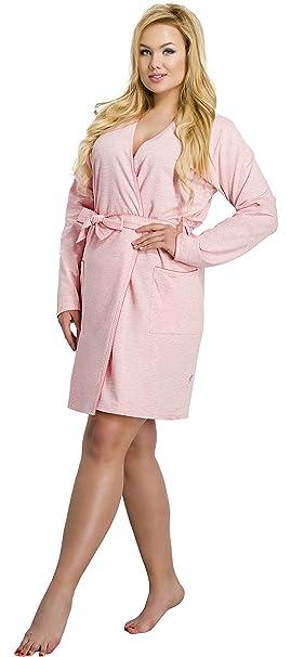 Merry Style Batas Tallas Grandes Plus Size Ropa de Cama Interior Lencería Mujer 1045 (Albaricoque