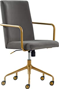 Elle Decor CHR10058B Giselle Home Office Chair Light Gray Light Gray
