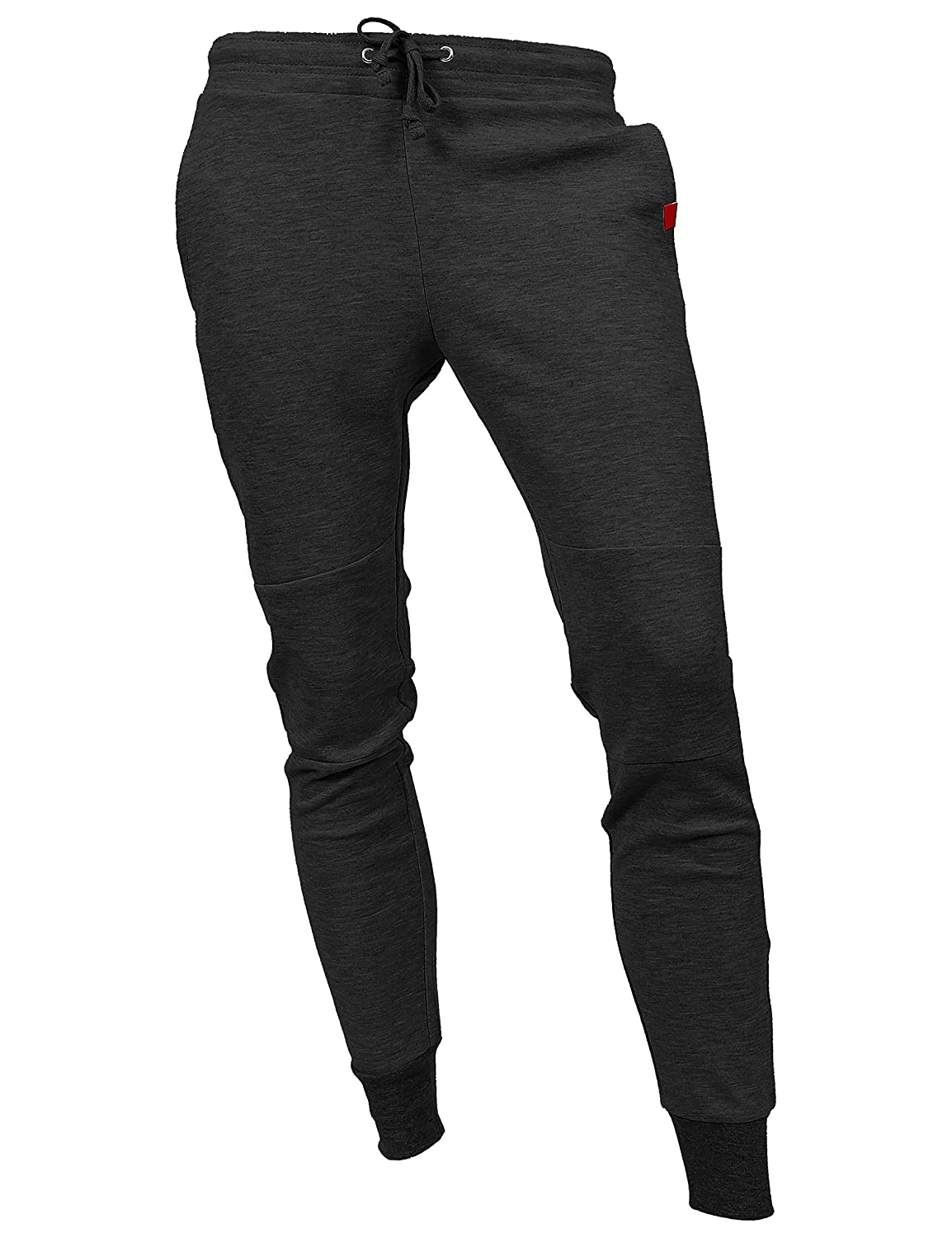 9f6538bdb17 Hat and Beyond Casual Fleece Jogger Pants Active Elastic Urban Slim Fit  DP-61 at Amazon Men s Clothing store