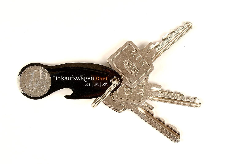 Einkaufswagenchip Metall schwarz 2 Stück mit jeweils 12 Monaten Schlüsselschutz