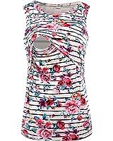 Chulianyouhuo Women's Sleeveless Maternity Breastfeeding and Nursing Tank top Cami Vest