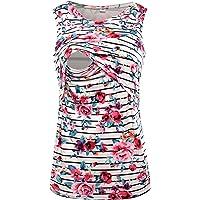 S-Comfy Women's Sleeveless Maternity Breastfeeding and Nursing Tank top Cami Vest