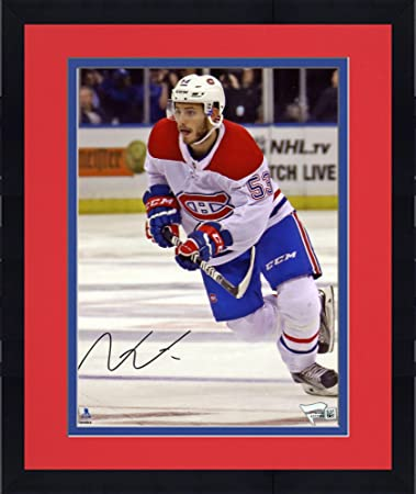 03a0bba5c Framed Victor Mete Montreal Canadiens Autographed 8 quot  x 10 quot  White  Jersey Skating Photograph -