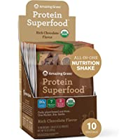 Amazing Grass Protein Superfood: Vegan Protein Powder, All-in-One Nutrition Shake, Rich Chocolate,