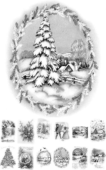 Flonz Livre De Coloriage Pour Adulte 24 Cartes De 10 2 X 16 5 Cm Paysages D Hiver Vintage Design Vintage A Colorier Sur L Echelle De Gris Amazon Fr Cuisine Maison