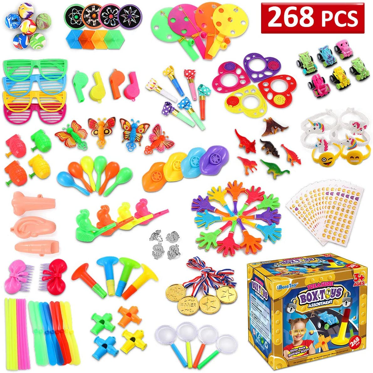 Pinata Filler Toy Set for Carnival, Halloween Treat Bags, School Classroom Rewards for Kids, Bulk Assortment Toys Best for Party