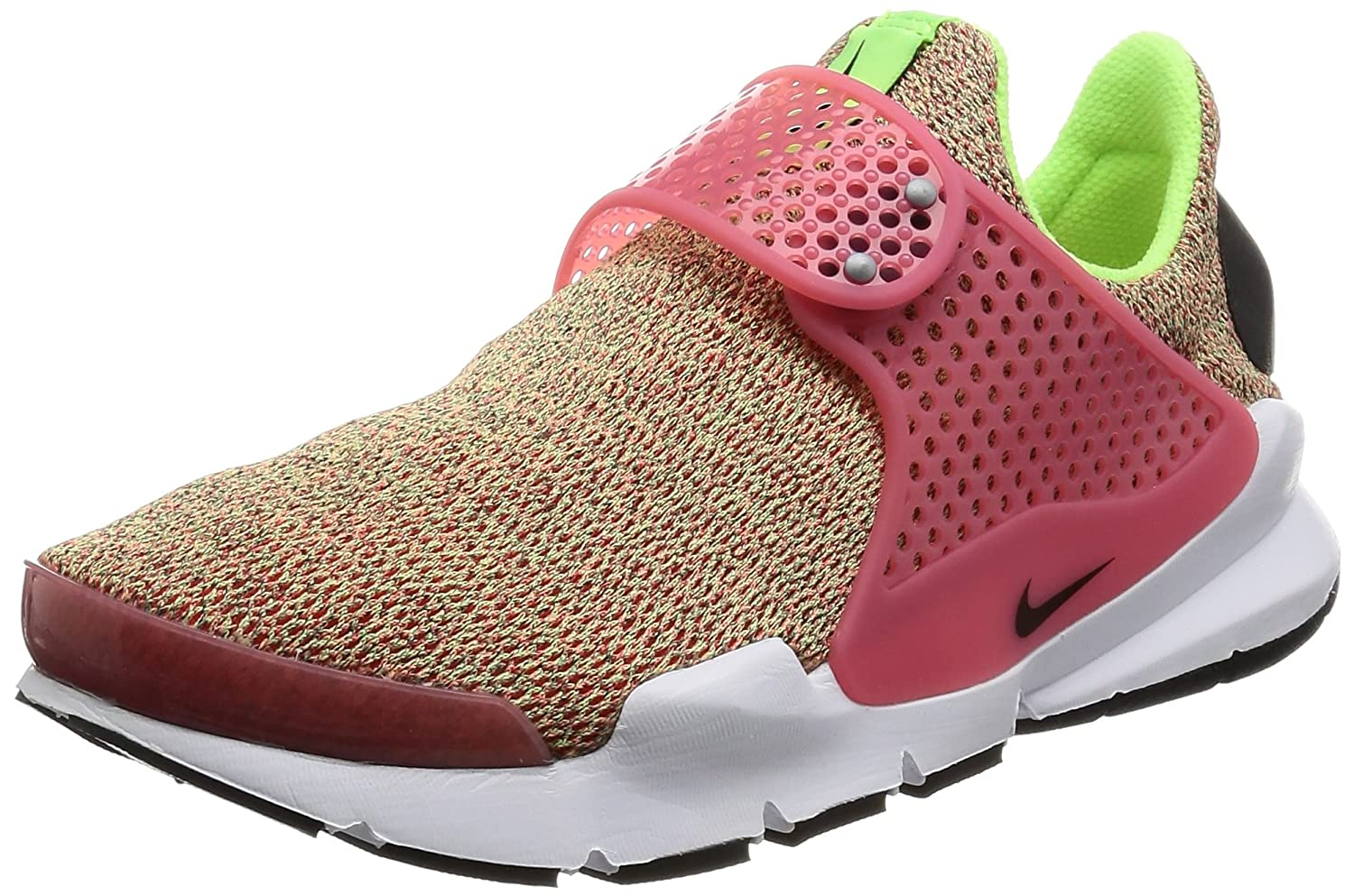 NIKE Womens Sock Dart Running Shoes B01MYA9APN 8 B(M) US|Ghost Green/Hot Punch/White