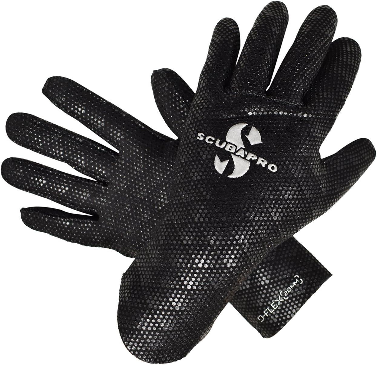 Black Scubapro D-Flex Gloves 2mm