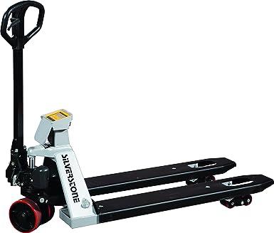 Silverstone zfp20s mano Transpaleta con báscula y Impresora térmica, soporta hasta 200 kg