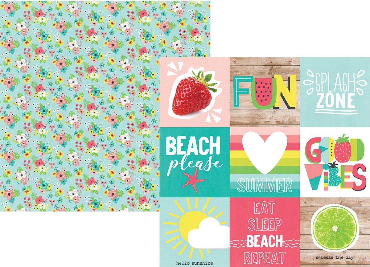 Simple Stories 10148 Hello Summer - Cartulina de de Cartulina doble cara, multicolor 7eb5f9