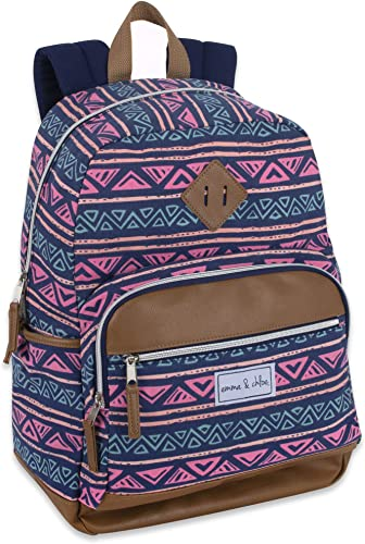 Pattern Aztec Multipocket Canvas Backpack