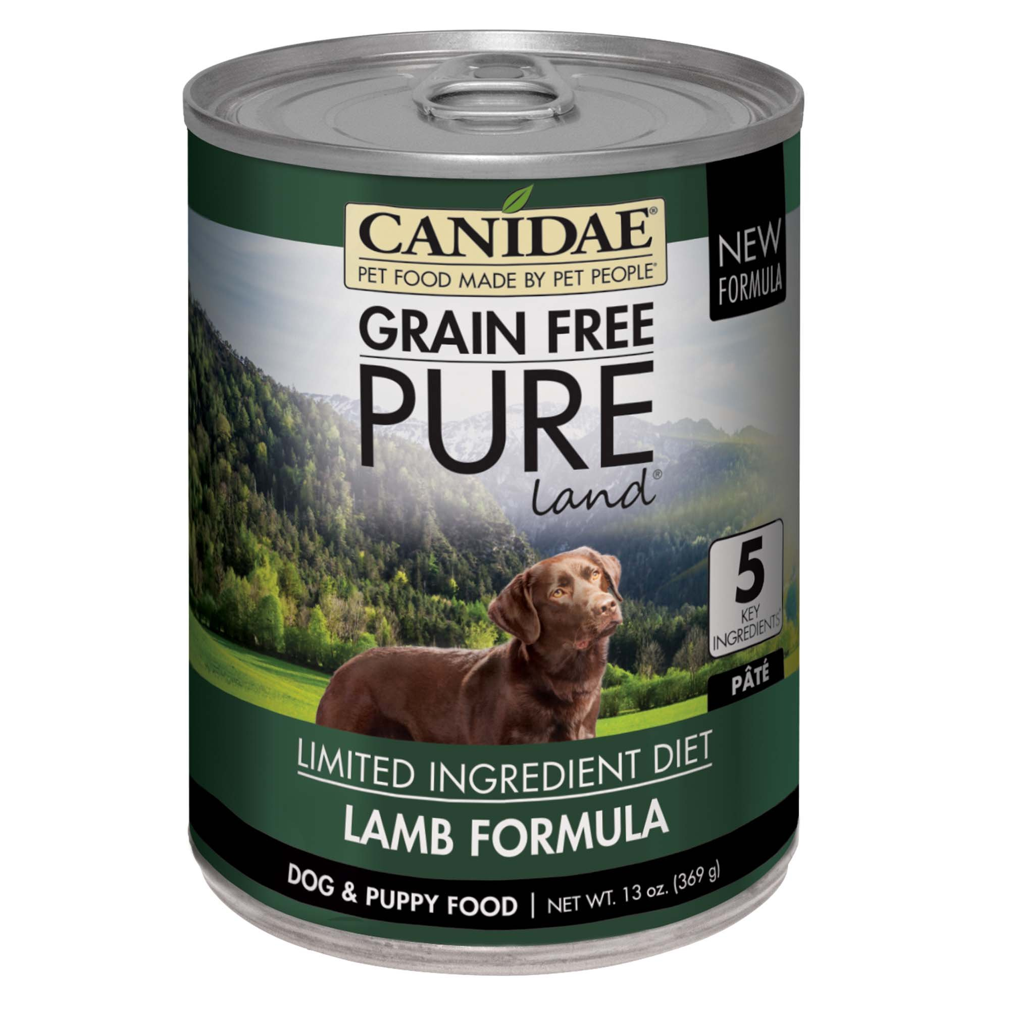 CANIDAE Grain Free PURE Land Dog Wet Formula with Lamb, 13 oz (12-pack) by CANIDAE