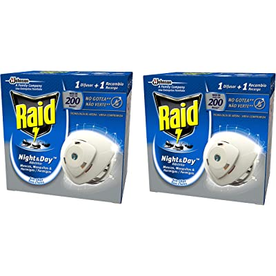 Raid - Night & Day - Anti-mosquitos Eléctrico  - Aparato + Recambio - [Pack de 2]