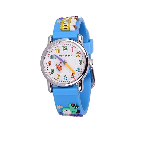 Wolfteeth Jóvenes Niños Pequeños Niños Niños Enfriar Reloj Reloj Maestro, Personaje De Dibujos Animados 3D Coche Blue Watchband 303604: Amazon.es: Relojes