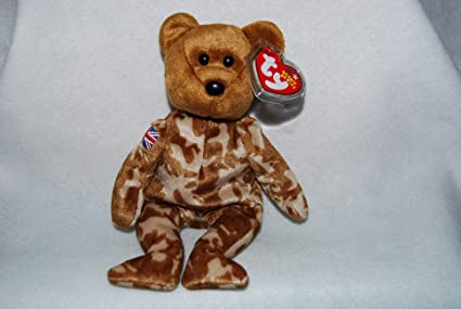 14d3b08870e Amazon.com  TY Beanie Baby - HERO the Military Bear (UK Exclusive ...