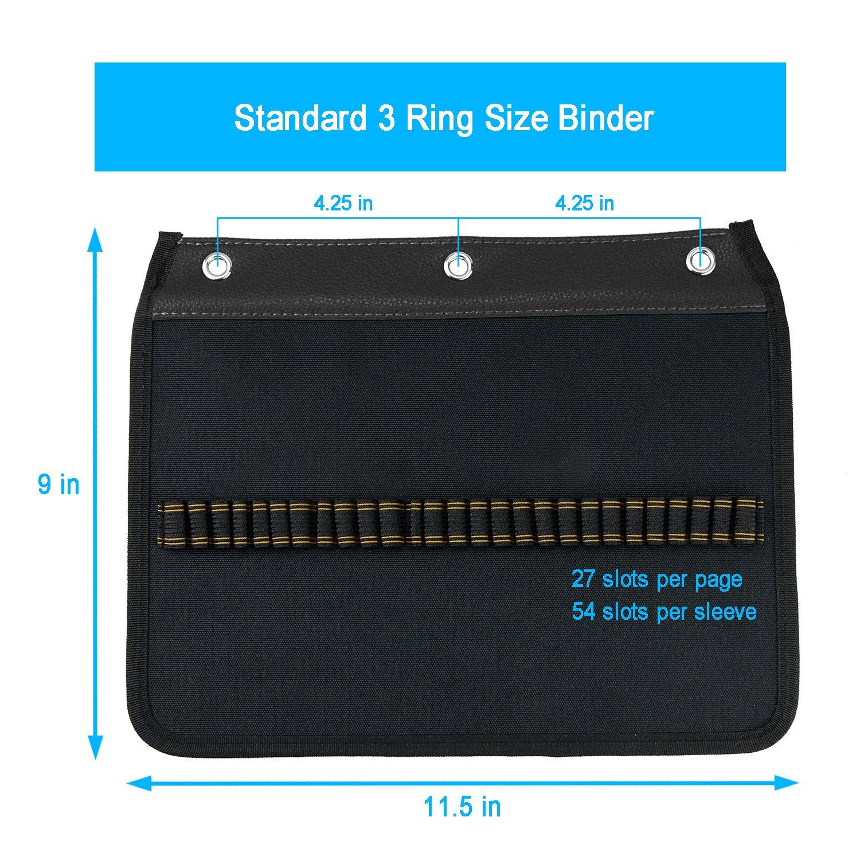 amazon com youshares 54 slots pencil sleeve standard 3 ring