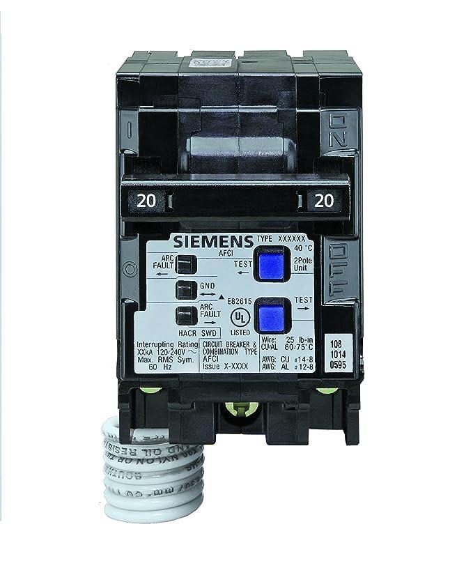 Siemens Q215AFCP 2-Pole 120-Volt combination type arc fault circuit ...