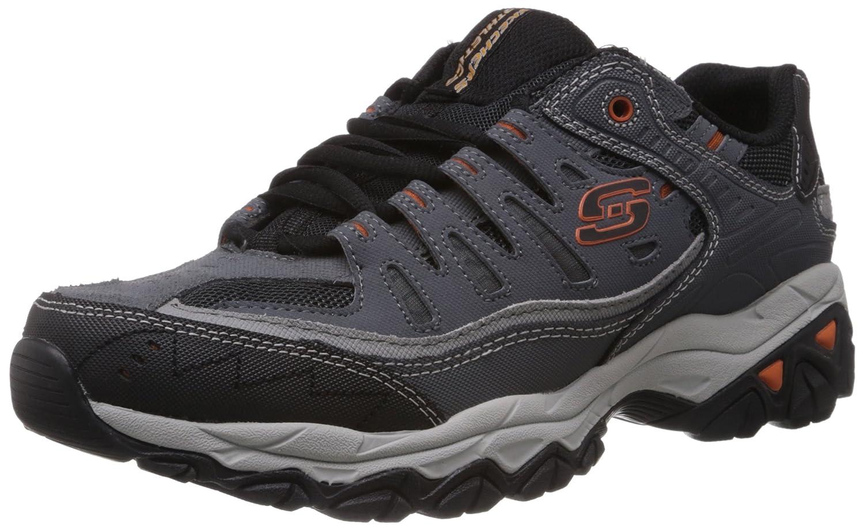 Skechers Men's Afterburn Memory-Foam Lace-up Sneaker B00FZN205U 10.5 4E US|Charcoal