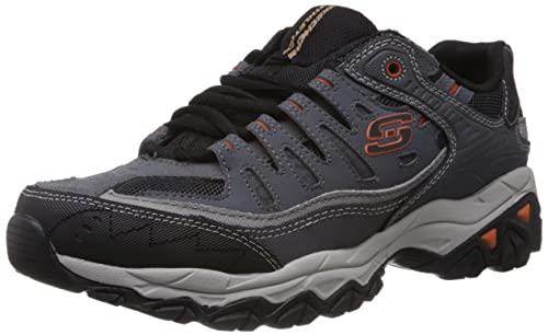 Zapatilla de deporte Skechers Sport Afterburn de espuma viscoelástica con cordones, Charcoal, 45 EU: Amazon.es: Zapatos y complementos