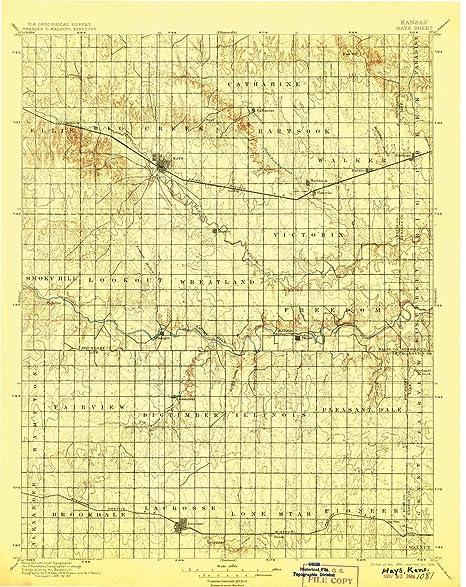 Amazon Com Yellowmaps Hays Ks Topo Map 1 125000 Scale 30 X 30