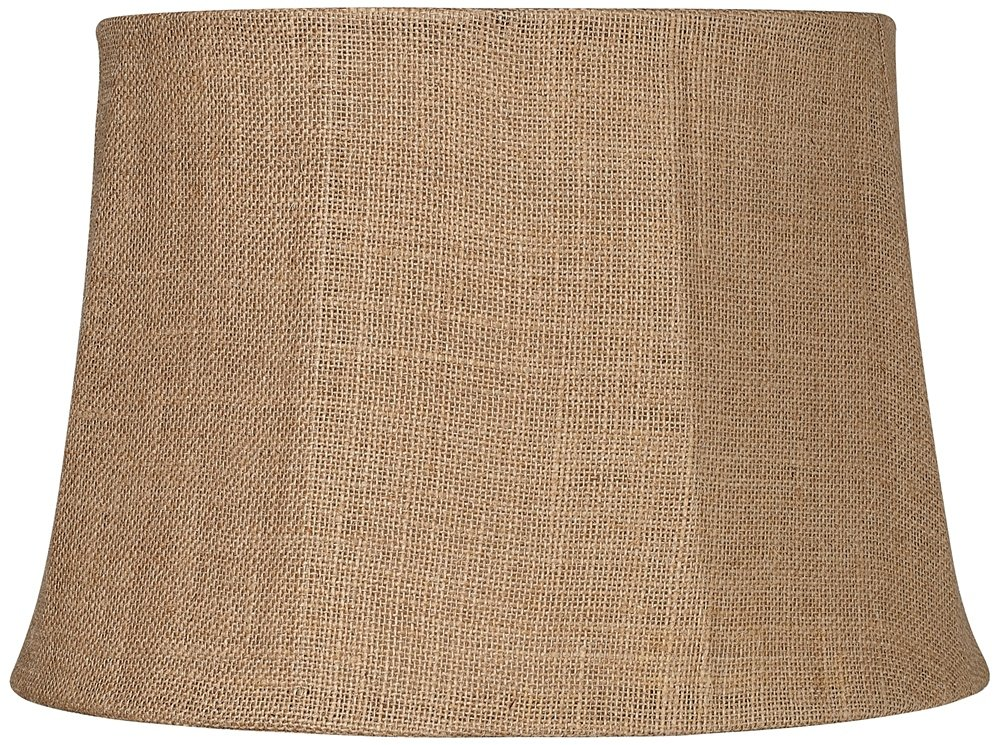 Natural burlap large drum lamp shade 13x16x11 spider amazon aloadofball Choice Image