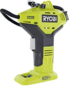 Ryobi Portable Power Inflator for Tires [NEW DIGITAL GAUGE] [18-Volt] [Cordless] [ONE+ Battery system] [P737D] (Battery Not Included, Power Tool Only)