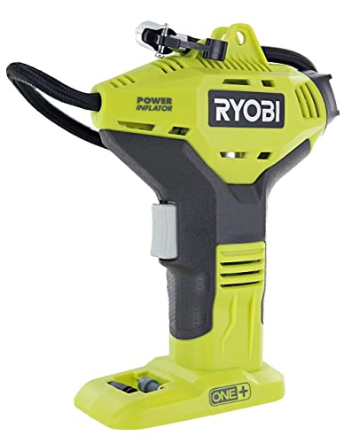Ryobi Portable Power Inflator for Tires NEW DIGITAL GAUGE 18-Volt Cordless ONE Battery system P737D Battery Not Included, Power Tool Only