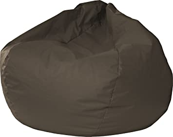 Gold Medal Bean Bags 30008446821 Small Leather Look Bean Bag For Children,  Walnut