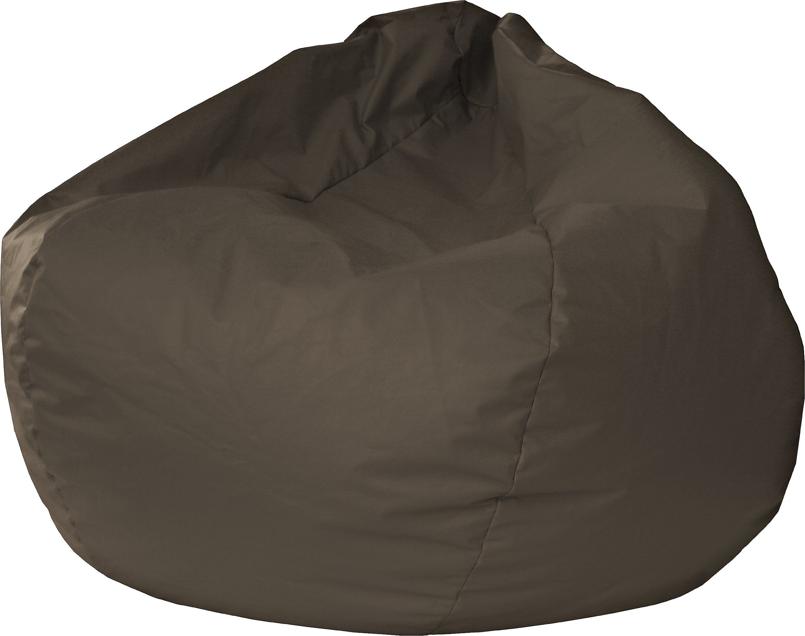 Gold Medal Bean Bags 30008446821 Small Leather Look Bean Bag for Children, Walnut by Gold Medal Bean Bags