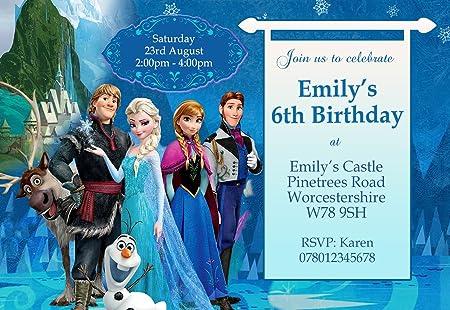 Frozen La Pandilla Tarjetas De Invitación Para Fiestas 24