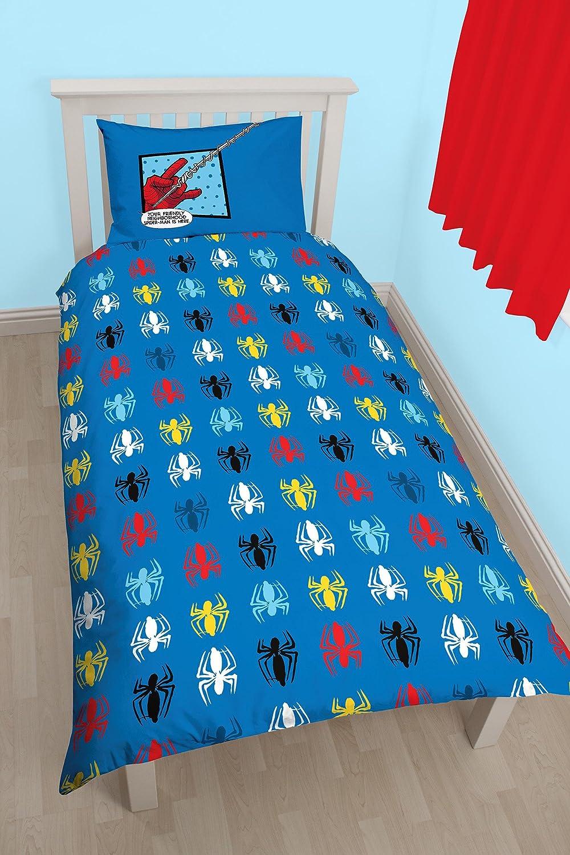 Amazon.com: Spiderman Webhead Reversible Panel Single Bed Duvet Quilt Cover Set: Home & Kitchen