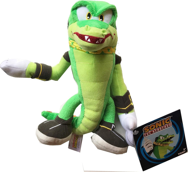 Amazon Com Sonic The Hedgehog 25th Anniversary Vector The Crocodile 8 Plush Toys Games