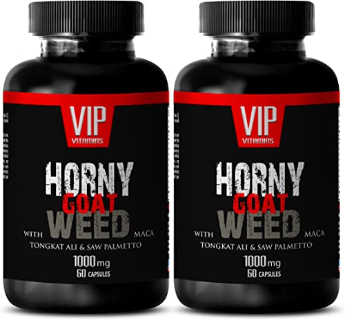 Horny Goat Weed Extract – Horny Goat Weed with MACA – Male Enhancing Pills Increase Size – 2 Bottles 120 Capsule