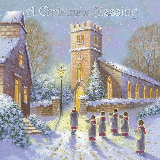 Paquete de 12 religiosa tarjetas navideñas y la hoja de plata ...