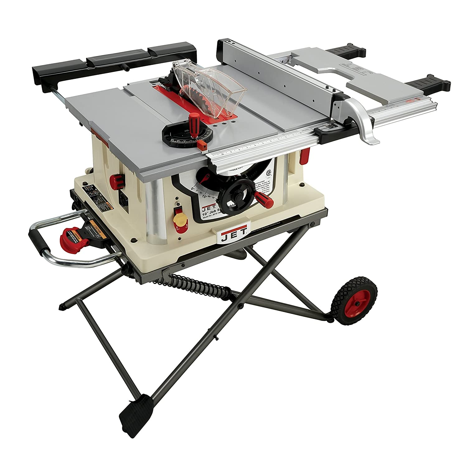 Jet JBTS-10MJS 10-Inch Jobsite Table Saw - Power Table Saws ...