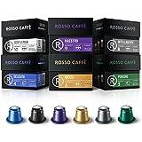 Rosso Coffee Capsules for Nespresso Original Machine - 60 Gourmet Espresso Pods Variety Pack, Compatible with Nespresso Origi
