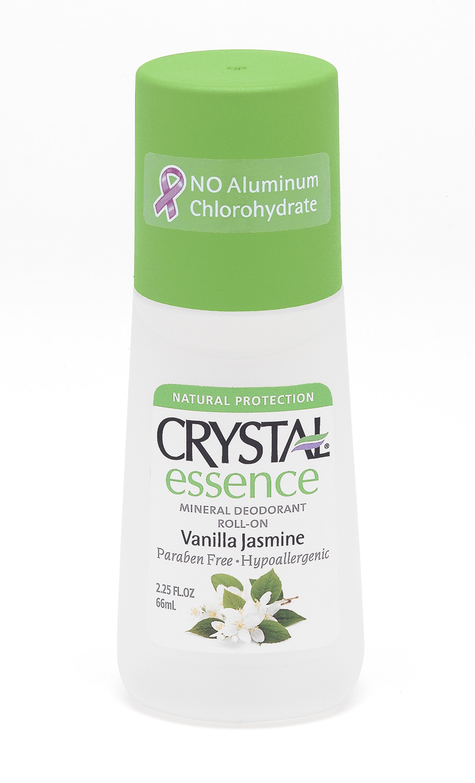 CRYSTAL essence Mineral Deodorant Roll-On - Vanilla Jasmine (2.25 fl oz)