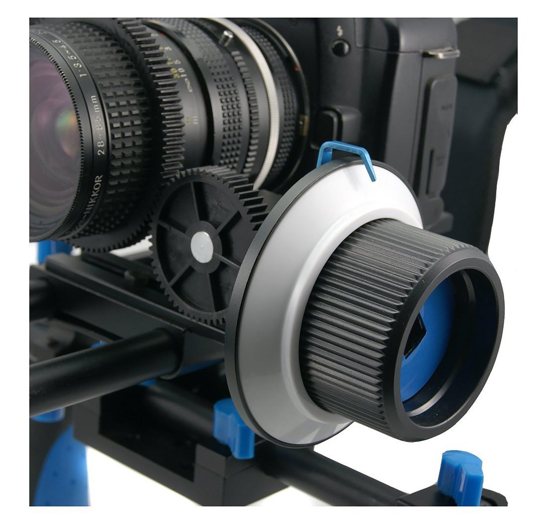 SunSmart Pro DSLR 15mm rod support system Follow Focus With Gear Ring Belt for DSLR cameras by SunSmart (Image #5)