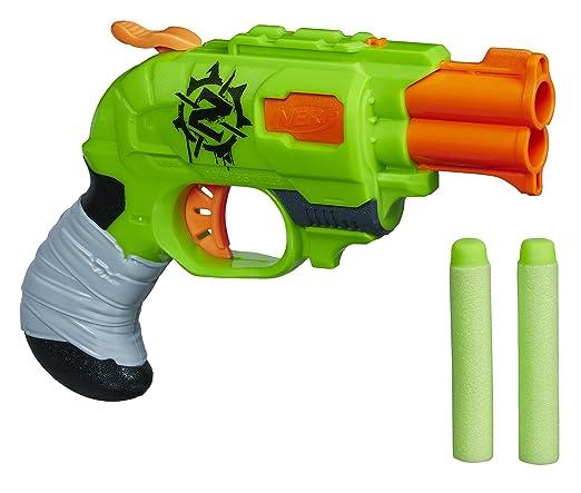 58 opinioni per Nerf A6562EU4- Arma Giocattolo Zombie Doublestrike, Nero/Verde/Grigio/Arancione