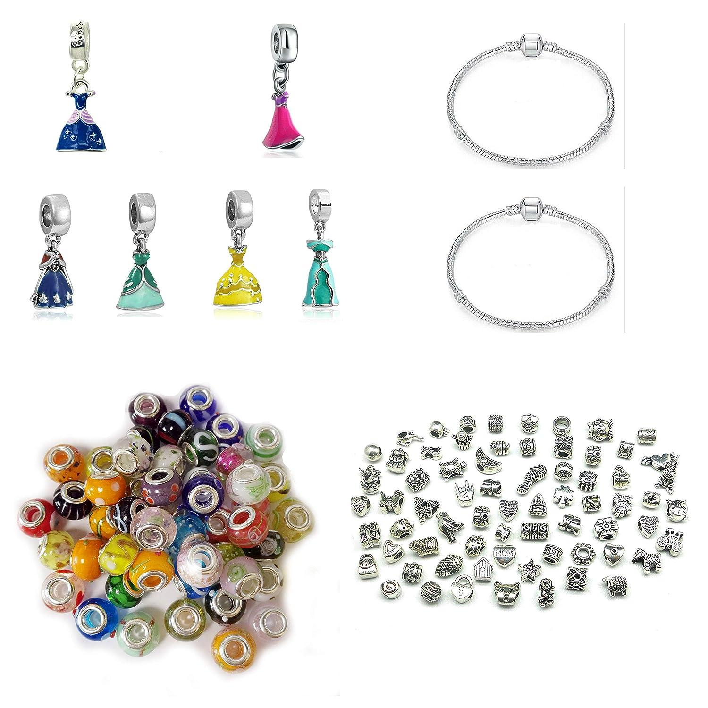 708e58459 Make your own Dress Theme Charm Bracelet Set Sister Mum Friend gift will  fit Pandora and Biagi charm bracelets bmp: Amazon.co.uk: Jewellery