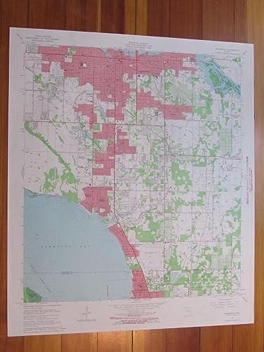 Amazon.com: Bradenton Florida 1966 Original Vintage USGS Topo Map ...