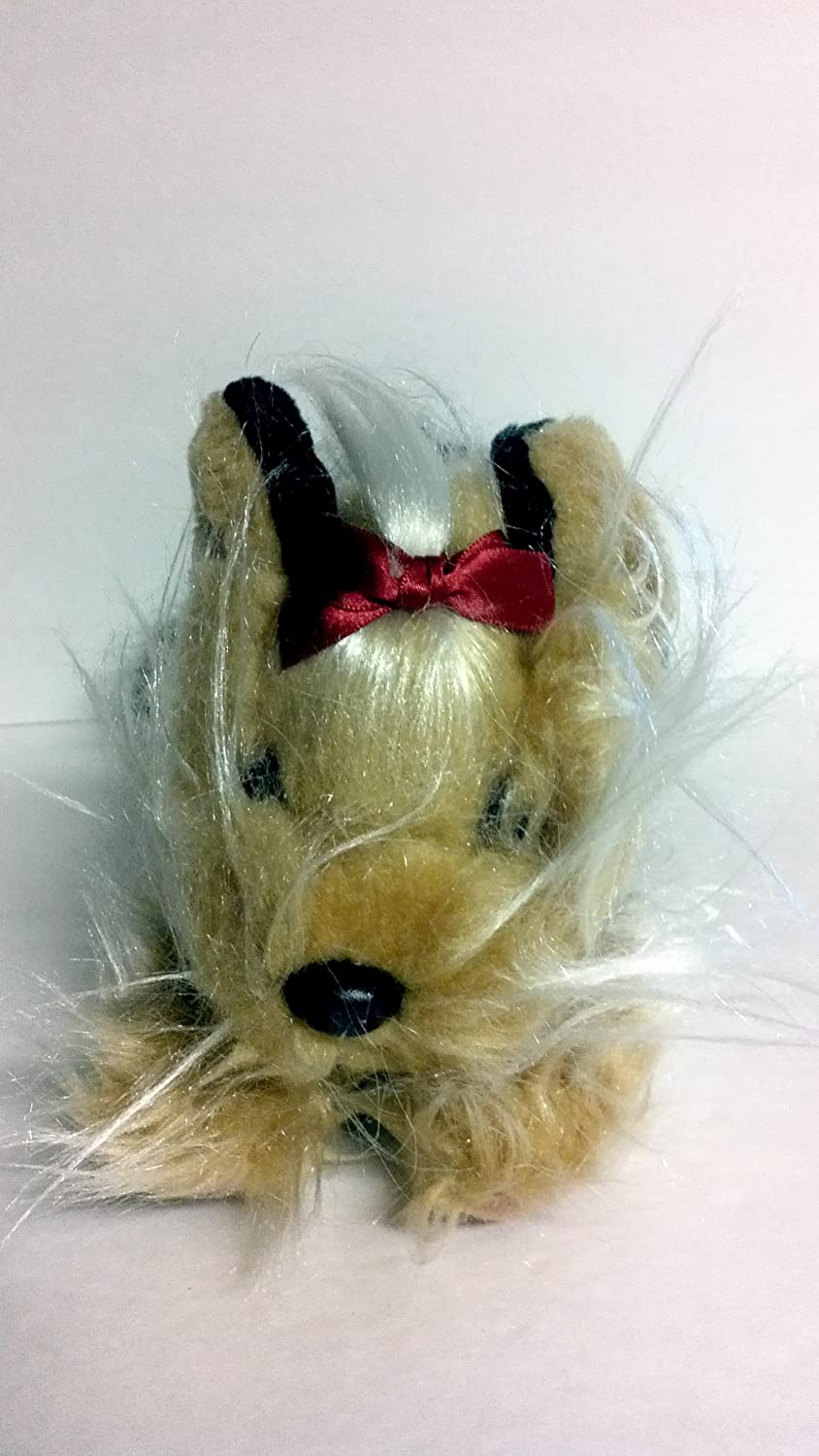 Amazon Com Animal Alley Yorkie Plush 10 Inch With Red Bow Toys Games