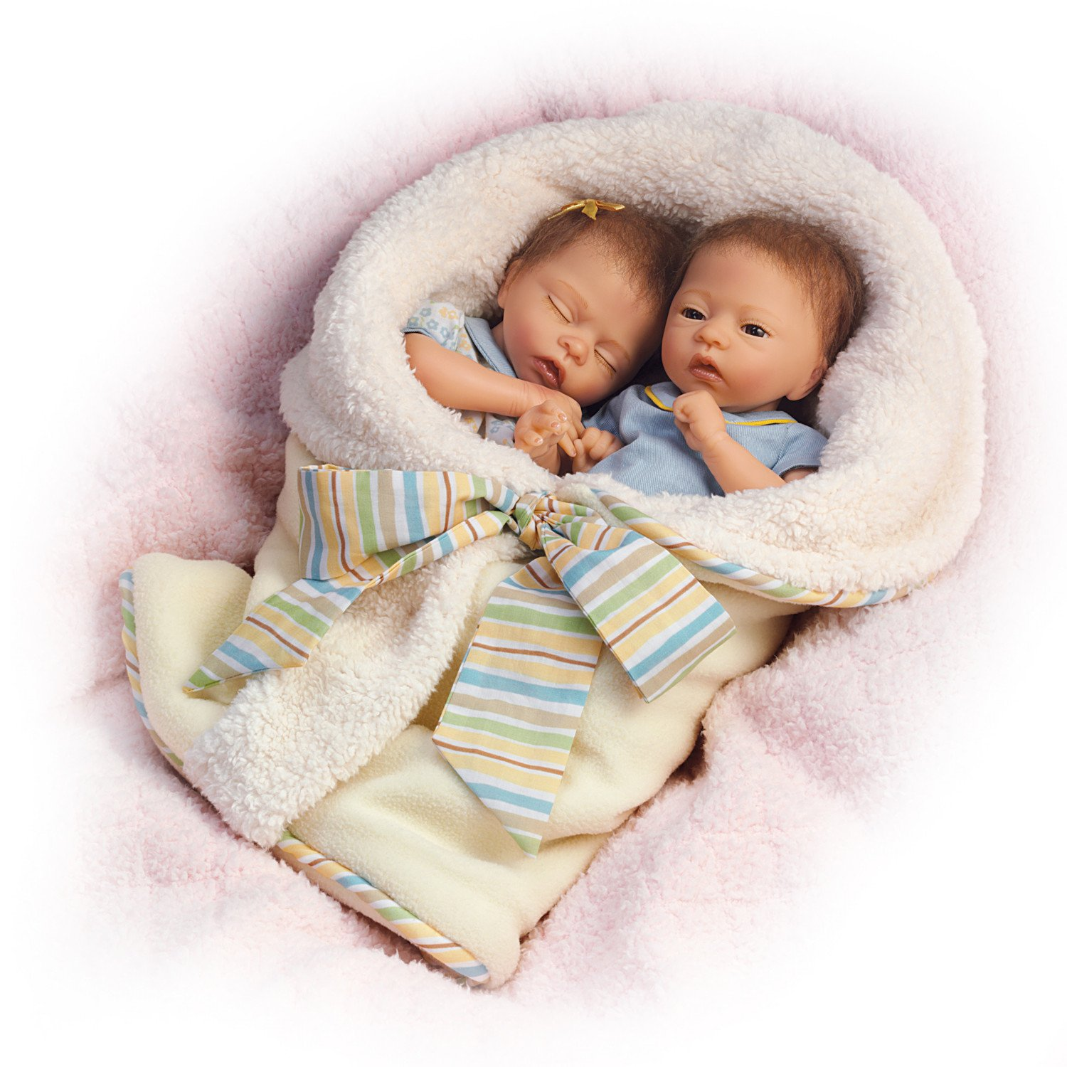13'' Donna Lee Poseable Lifelike Twin Baby Doll Set Taylor And Tyler by The Ashton-Drake Galleries by The Ashton-Drake Galleries